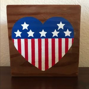 Wooden Patriotic Sign